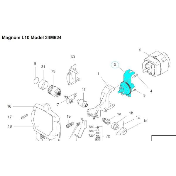 Kit entrainement pompe Magnum M5 et L10