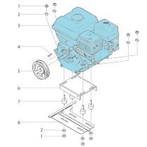 Moteur, essence 7 Subaru(démarrage électrique)