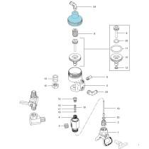 Chapeau cylindre pneumatique