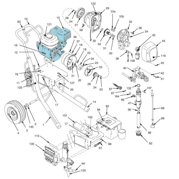 MOTEUR A   ESSENCE 5.5 HP HONDA GX160