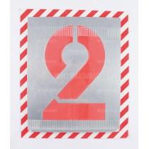 Pochoirs chiffres en zinc BAT